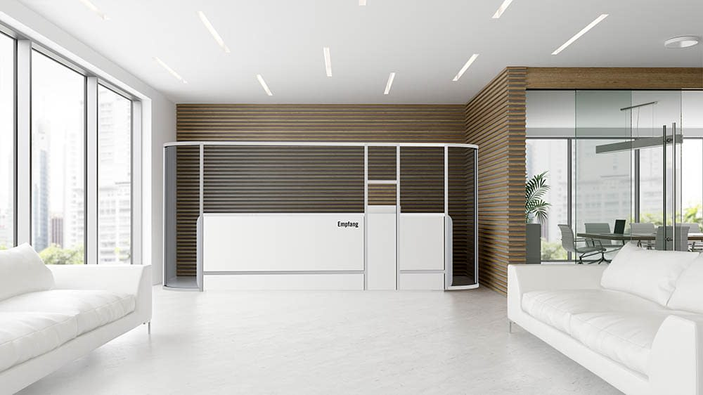 Custom Receptionist Partition