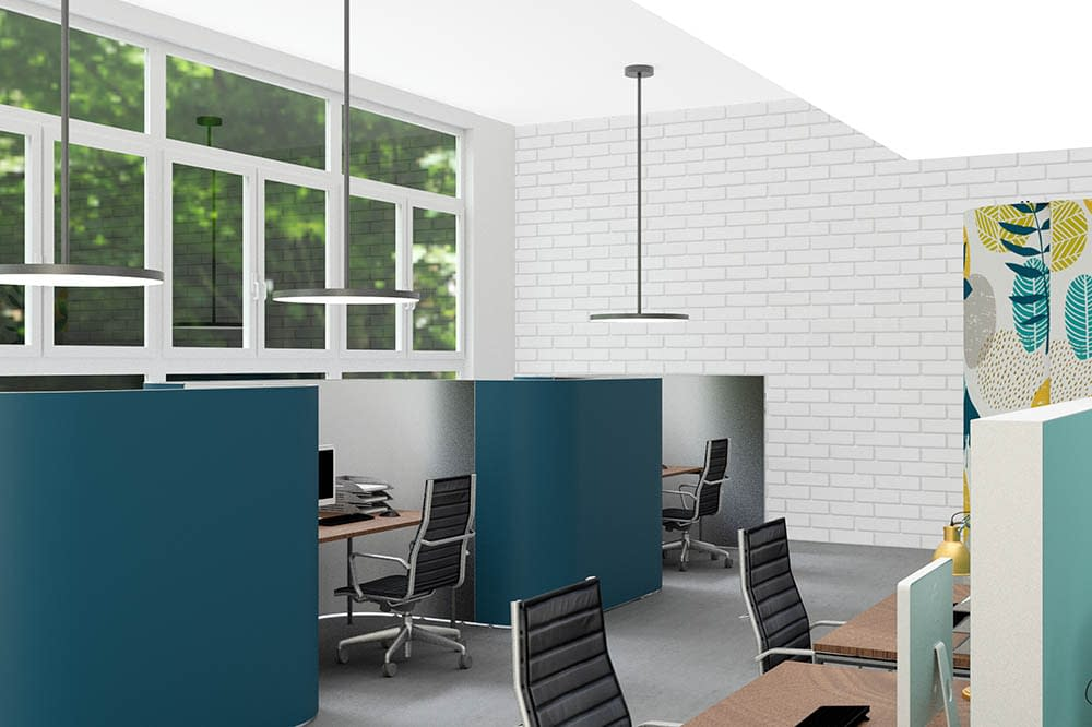 Cubicall Matrix Offices, Open