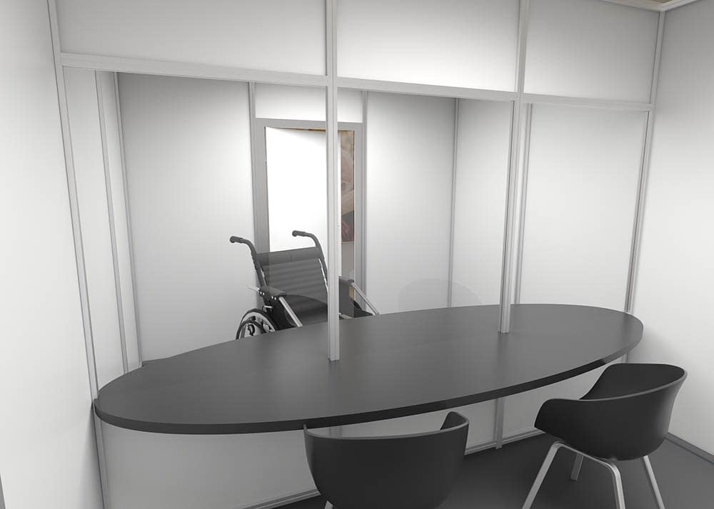 Cubicall Matrix Separated Meeting Room