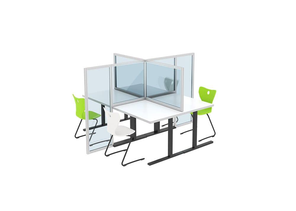 Desk Divider, Four-way