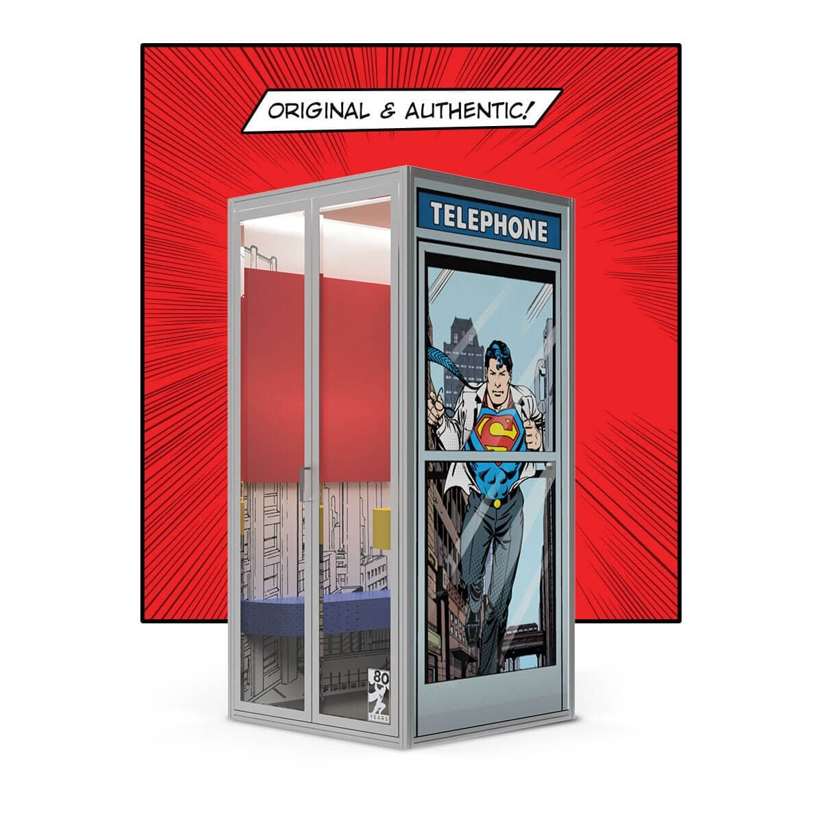 Superman Phone Booth Authentic Cubicall