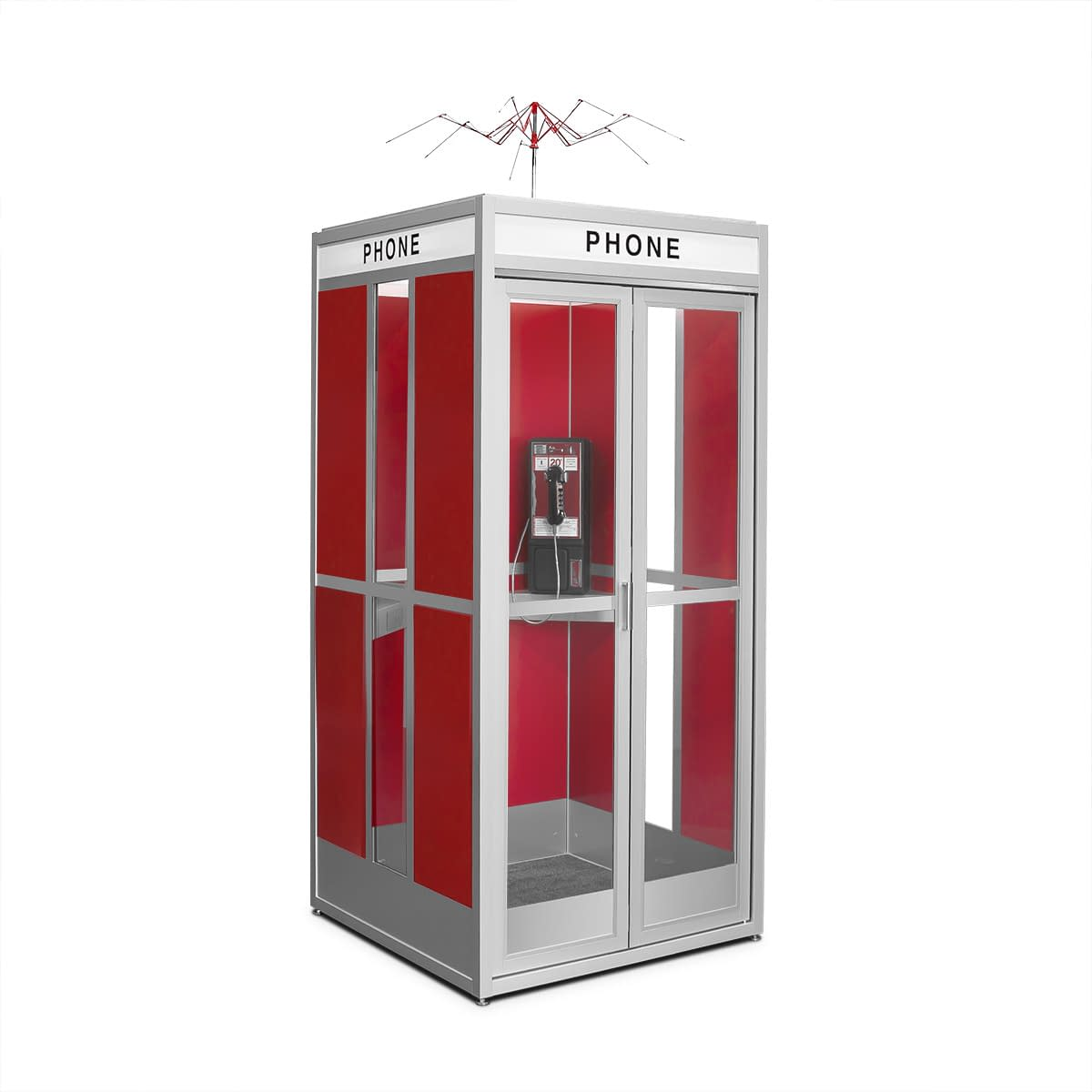 Cubicall Bill Ted PhoneBooth a-closed