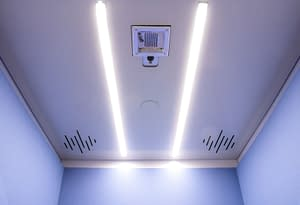 Cubicall UV-Integrated Phone Booth with PURO Lighting Fixture for Automated After-use Disinfection